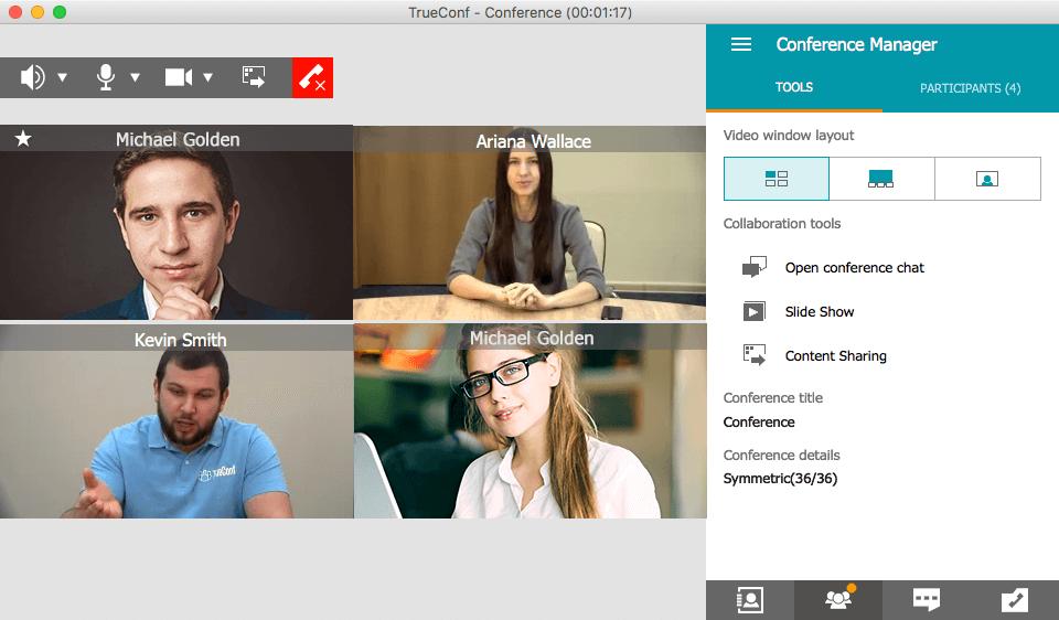 Client application TrueConf for OSx