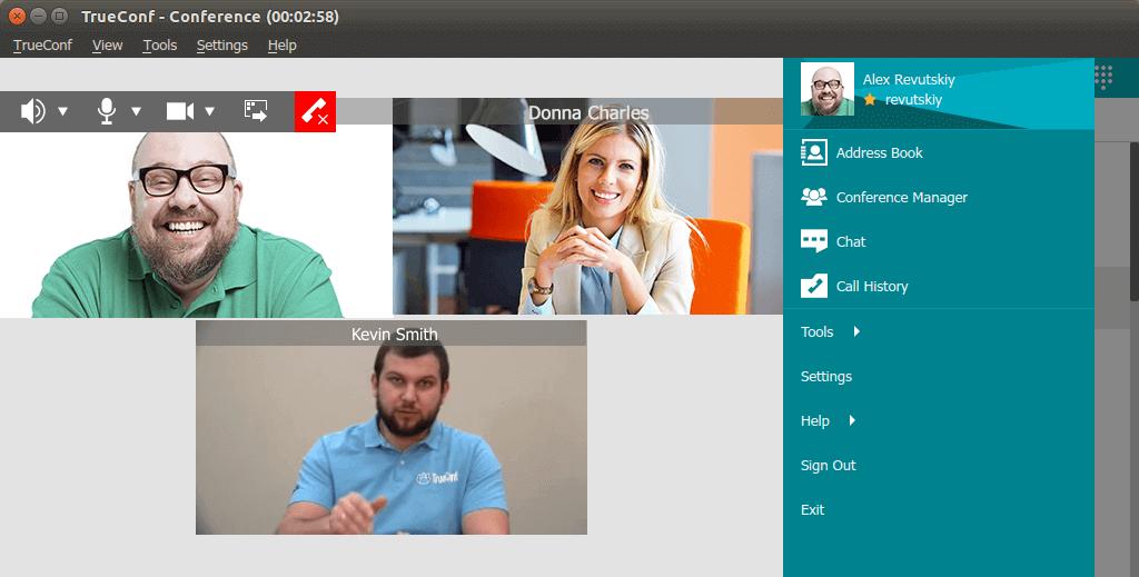 TrueConf Videokonferenz-Software für Linux